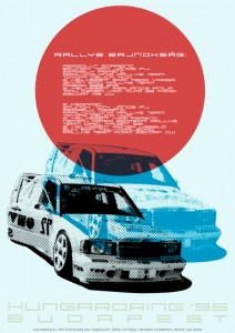 Ajándékbolt rally racing poszter 01